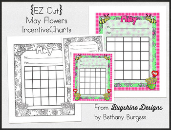 Incentive Charts & Sticker Printables {Spring & May Flowers}