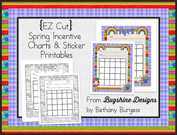 Incentive Charts & Sticker Printables {Spring, Rainbow & Easter}
