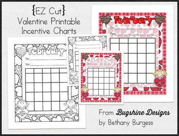 Incentive Charts & Sticker Printables {Valentine & February}