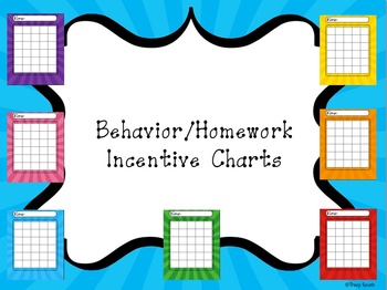 Incentive Charts for Homework or Behavior