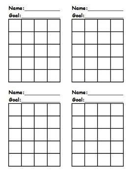 Incentive Charts with Name and Goal