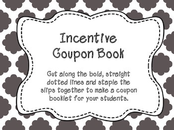 Incentive Coupon Booklet