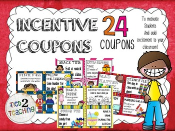 Incentive Coupons - 24 Coupons for Incentives, Rewards & Motivation