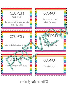 Incentive Coupons COLORFUL