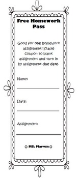 Incentive Coupons for Middle/High School Classrooms