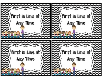 Incentive Coupons with a Chevron Border - Freebie!