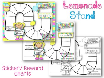 Incentive Game Boards. Reward Sticker Charts. Behavior. Lemonade. Winter. Kites.