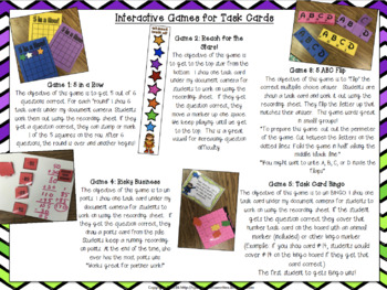 Incentive Games for Task Cards
