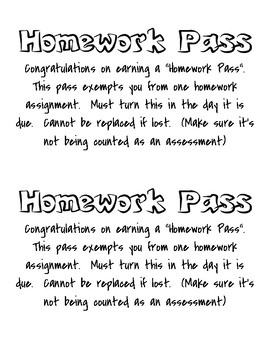 Incentive Pass