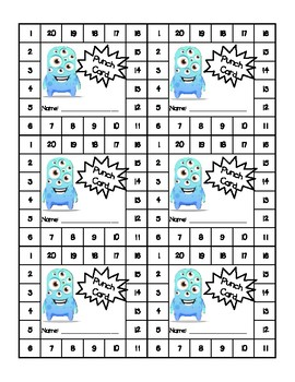 Incentive Punch Card