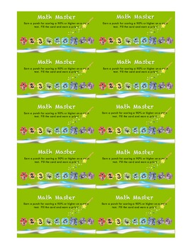 Incentive Punch Card for Math