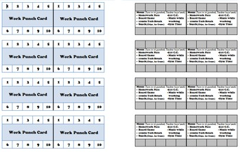 Incentive Punch Card: with task menu
