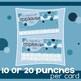 Incentive Punch Cards: Bubble Design