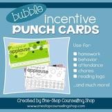 Behavior Incentive Punch Cards: Bubble Design