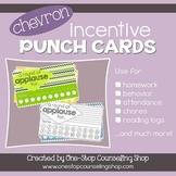 Behavior Incentive Punch Cards: Chevron Design