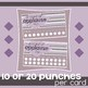 Behavior Incentive Punch Cards: Chevron Design
