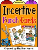 Incentive Punch Cards: FALL Theme