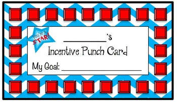 Incentive Punch Cards: Red, White and Blue Chevron Themed