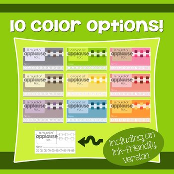 Behavior Incentive Punch Cards: Rounded Box Design