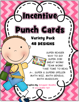 Incentive Punch Cards - Variety Pack *UPDATED*