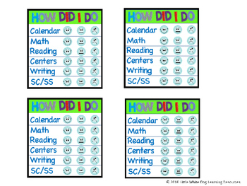 Incentive Punch Cards for Classroom Management (fit Target Dollar Spot Sleeves)