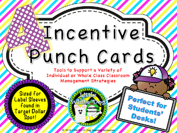 Incentive Punch Cards for Classroom Management (fit Target