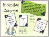 Incentive & Rewards Coupons with Peace Sign Border