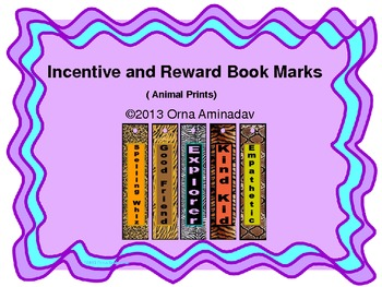 Incentive and Reward Book Marks (Animal Prints)