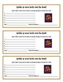 Incentive bookmark to promote reading over breaks