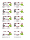 Back to School:Incentive cards  Punch cards (math, reading