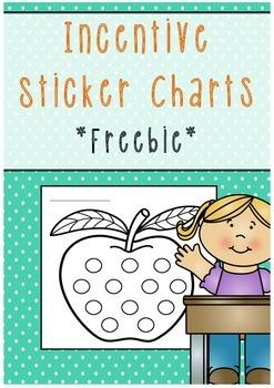 Incentive sticker charts