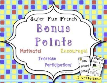 Incentives: Printable Bonus Points & Rewards motivate & increase participation!