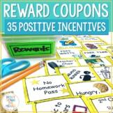 Reward Coupons for Positive Behavior Management: Reward Coupons and Incentives