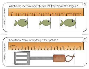 Measurement Task Cards: Inch, 1/2 Inch, & Centimeter (Corresponding PowerPoint)