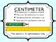 Inch & Centimeter Poster