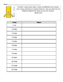 Inch Sponge Activity - Find an Item for Each Inch on the Ruler