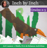 Inch by Inch Art Lesson & Video with measuring & science activities -Spring Art