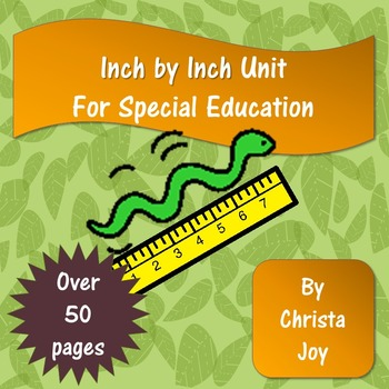 Inch by Inch Unit for Special Education