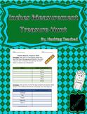Inches Measurement Treasure Hunt Worksheet Activity