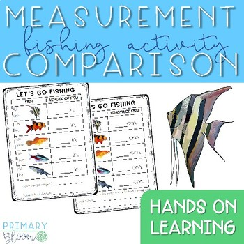 Inches and Centimeters Measurement Activity - Let's Go Fishing!
