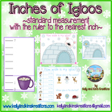 Inches of Igloos! {standard measurement with the ruler to the nearest inch}