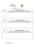 Incident Log - For Teacher Use