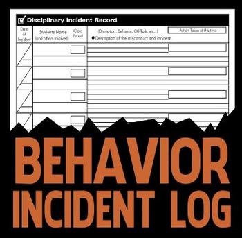 Incident Record - Classroom Management