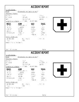 Incident and Accident Reports Pack for Preschool, Prek, and Kindergarten