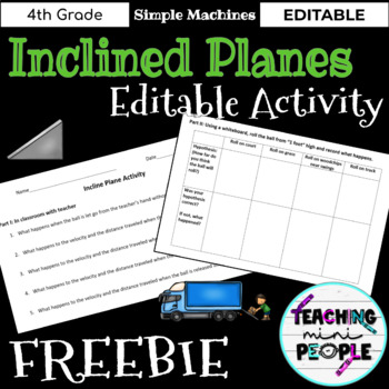 Incline Plane Activity - Editable