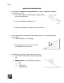 Inclined Plane Worksheet: Newton's Laws