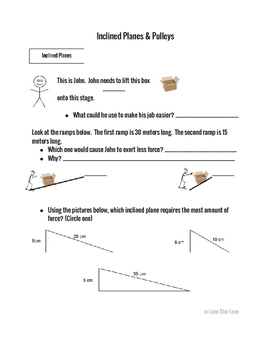 Inclined Planes and Pulleys