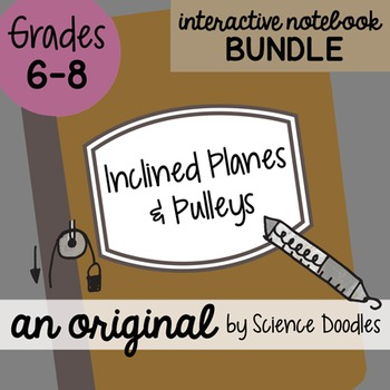 Inclined Planes and Pulleys Science Doodles Interactive Notebook Bundle