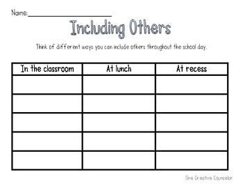 Including Others Printable