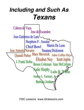 Including and Such As Texan Biographies